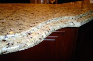 New Venetian Gold Granite kitchen